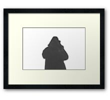 His Own Shadow Framed Print