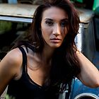 Portrait of a woman on a derelict car by Ben Ryan