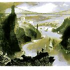 The Isambard Kingdom Brunel, Clifton Suspension Bridge 1864 by Dennis Melling