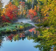 Bantam River Autumn by Bill Wakeley