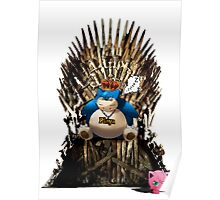Snorlax and Jigglypuff take the Iron Throne Poster