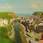 East Coast Village of Staithes by Graham Clark