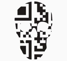QR Code Skull by SeijiArt