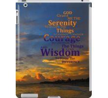 Serenity Prayer Sunset By Sharon Cummings iPad Case/Skin