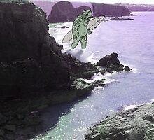 Newquay sea monster by JGomezWeaver