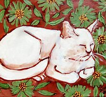 Fauv Cat White Cat by Carole Chapla