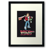 Buzz to the future poster Framed Print