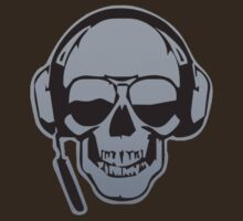 Skull DJ Grey T-Shirt by Axwel