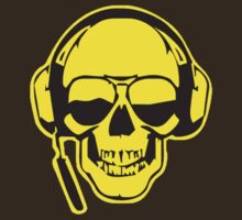 Skull DJ Yellow T-Shirt by Axwel