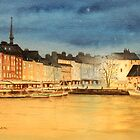 Honfleur Evening Lights by bill holkham