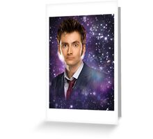 The 10th Doctor in Space Greeting Card