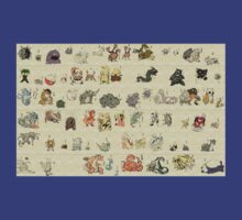 Vintage pokemon collection by nomnomnomdesigs
