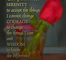 Serenity Prayer Rose in Glass by serenitygifts