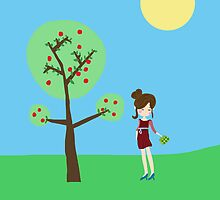 Girl and the tree by ywanka