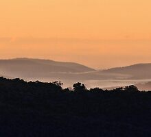 Pastel Sunrise - Hill End NSW Australia by Bev Woodman