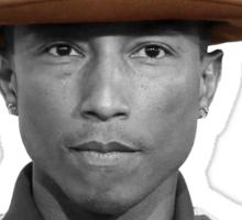 Pharrell Williams Hat Sticker