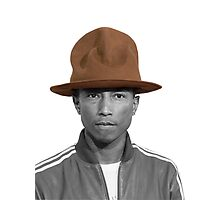 Pharrell Williams Hat Photographic Print
