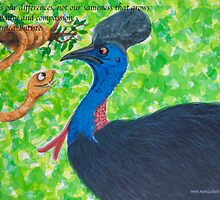 Taipan meets Cassowary; inspirational quotes by Monica Batiste