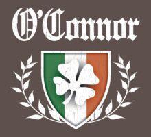 O'Connor Family Shamrock Crest (vintage distressed) Kids Clothes