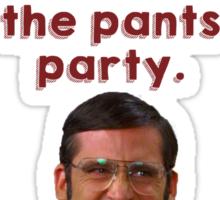 Anchorman Pants Party Sticker