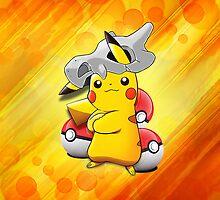 Pikachu - Cubone by jebez-kali