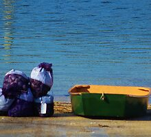 Bags of Clams and a Boat by Gilda Axelrod