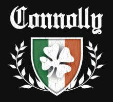 Connolly Family Shamrock Crest (vintage distressed) by robotface