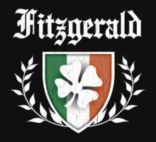 Fitzgerald Family Shamrock Crest (vintage distressed) by robotface