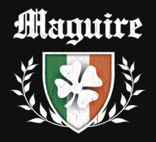 Maguire Family Shamrock Crest (vintage distressed) by robotface