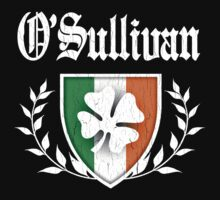 O'Sullivan Family Shamrock Crest (vintage distressed) by robotface