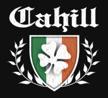 Cahill Family Shamrock Crest (vintage distressed) by robotface