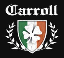 Carroll Family Shamrock Crest (vintage distressed) by robotface