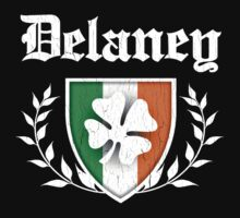 Delaney Family Shamrock Crest (vintage distressed) by robotface