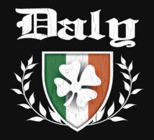 Daly Family Shamrock Crest (vintage distressed) by robotface