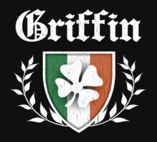 Griffin Family Shamrock Crest (vintage distressed) Kids Clothes
