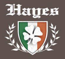 Hayes Family Shamrock Crest (vintage distressed) Kids Clothes