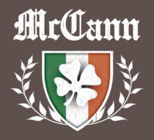 McCann Family Shamrock Crest (vintage distressed) Kids Clothes