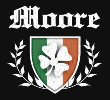 Moore Family Shamrock Crest (vintage distressed) by robotface