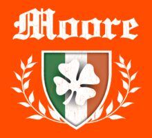 Moore Family Shamrock Crest (vintage distressed) Kids Clothes