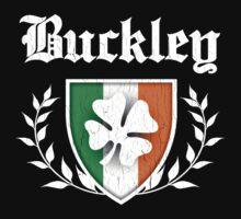 Buckley Family Shamrock Crest (vintage distressed) Kids Clothes