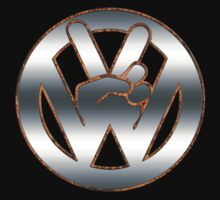 VW Rust Peace Sign by MGraphics
