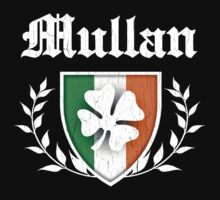 Mullan Family Shamrock Crest (vintage distressed) by robotface