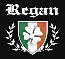Regan Family Shamrock Crest (vintage distressed) by robotface