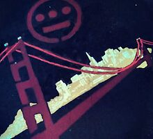 Stencil Golden Gate San Francisco by dswift