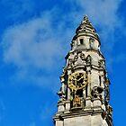 The Clock Tower, City Hall, Cardiff by Paula J James