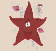 Happy Star Fish ... tee shirt by LoneAngel