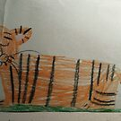 Tiger (drawn by 7 yr old) by PJ Ryan