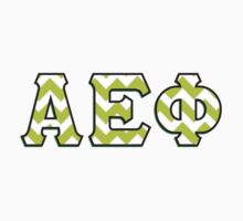 Alpha Epsilon Phi Chevron Print by mishyyyx3