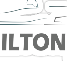 Lewis Hamilton 44 Sticker