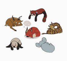 z z z - sleeping animals shirt by Pinya